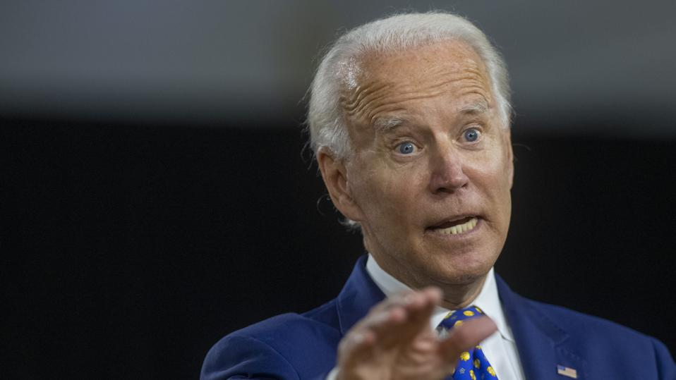 Presidential Candidate Joe Biden Makes Economic Address In Wilmington, Delaware