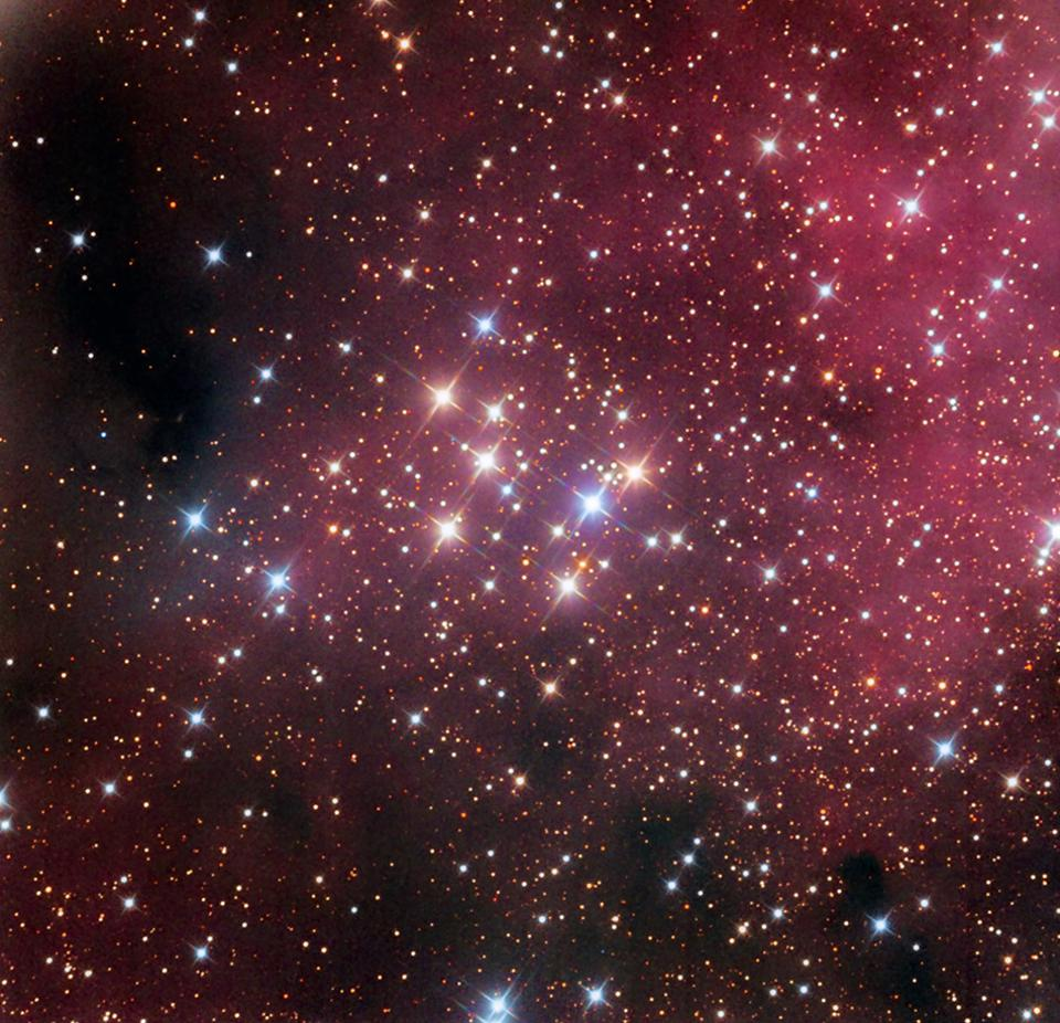 The central core of the open star cluster Messier 29.