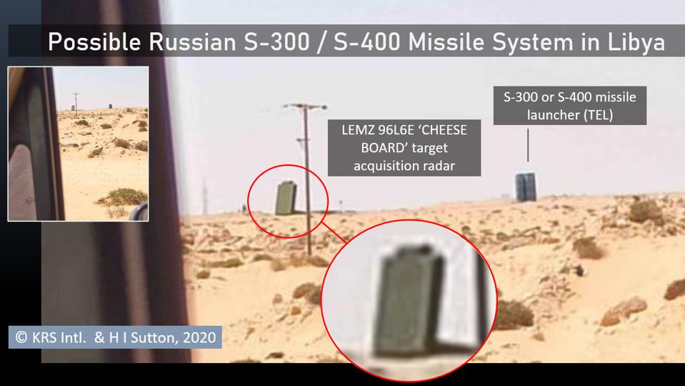 Photo of Russian S-400 or S-300 air defense missile system in Libya