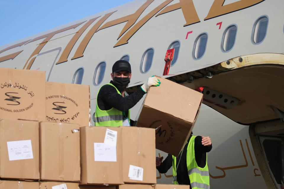 Plane delivers medical supplies for fighting COVID-19 to Grozny from United Arab Emirates