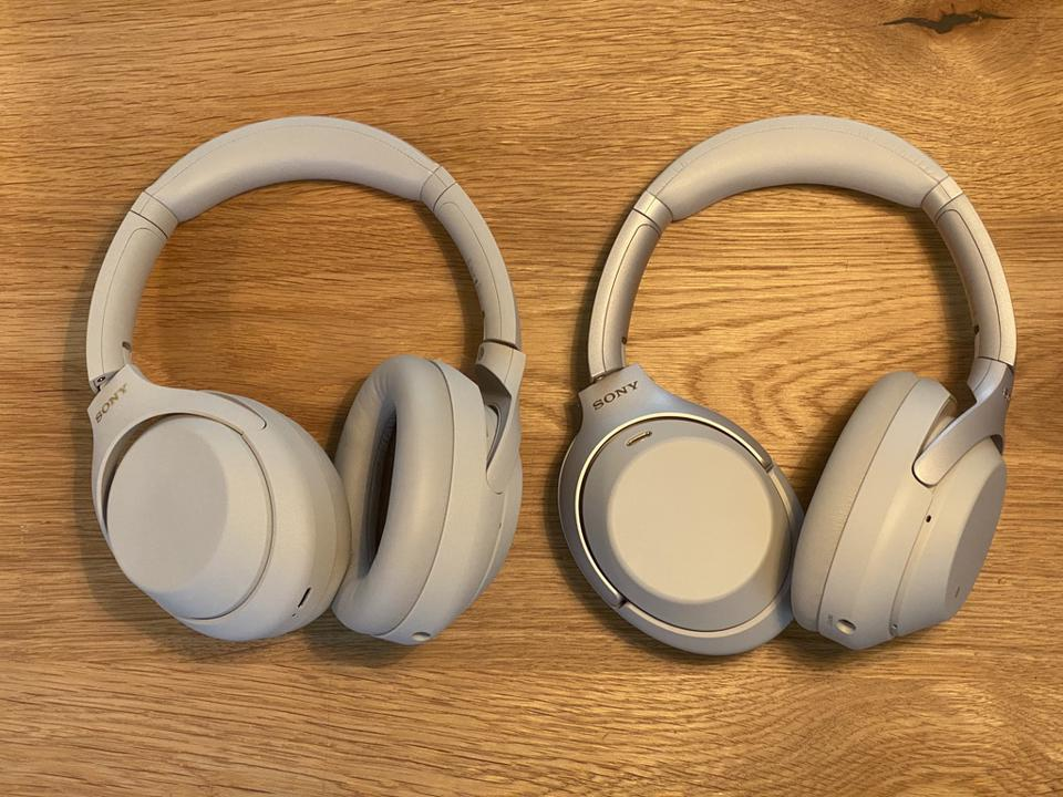 Sony WH-1000XM3, left, WH-1000XM4, right. They look pretty similar, right?