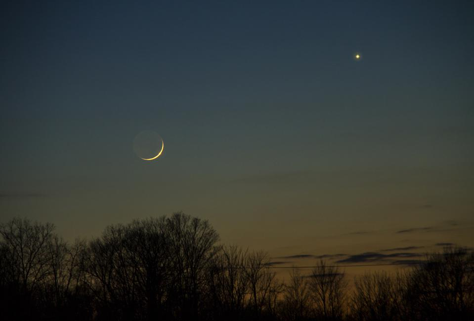 A conjunction of Venus and the Moon is coming up next.