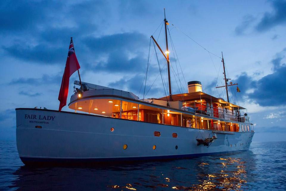 Nearly 100 years old, Fair Lady may be the most exclusive charter yacht there is.