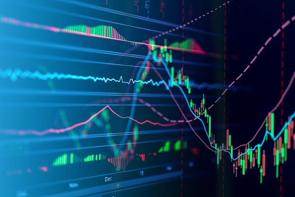 Close-Up Of Stock Market Data On Digital Display
