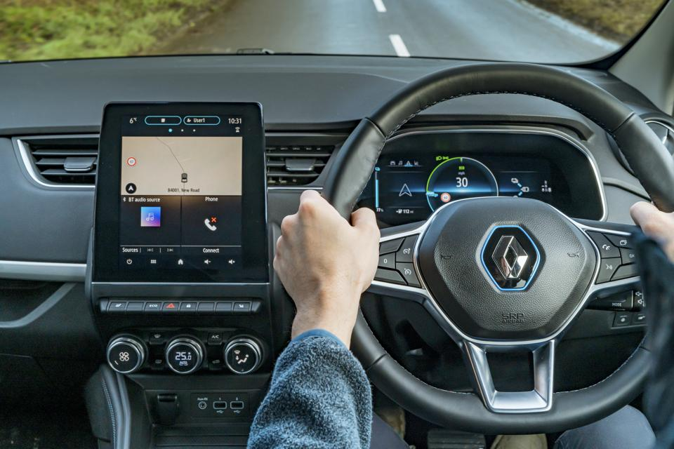 Right-hand-drive interior of the 2020 Renault Zoe R135