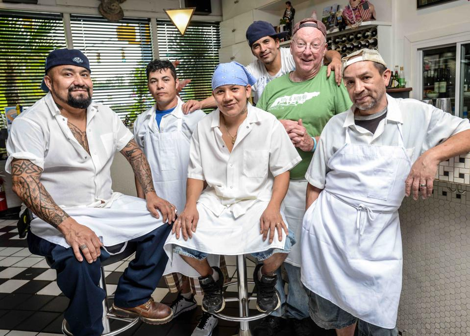 Chef Bill Smith and team in Durham, N.C.