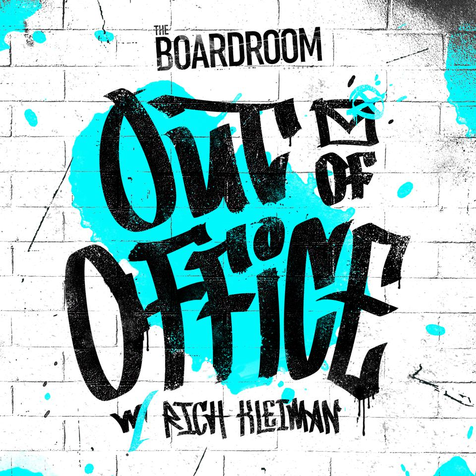 Podcast logo for The Boardroom podcast Out of Office with Rich Kleiman