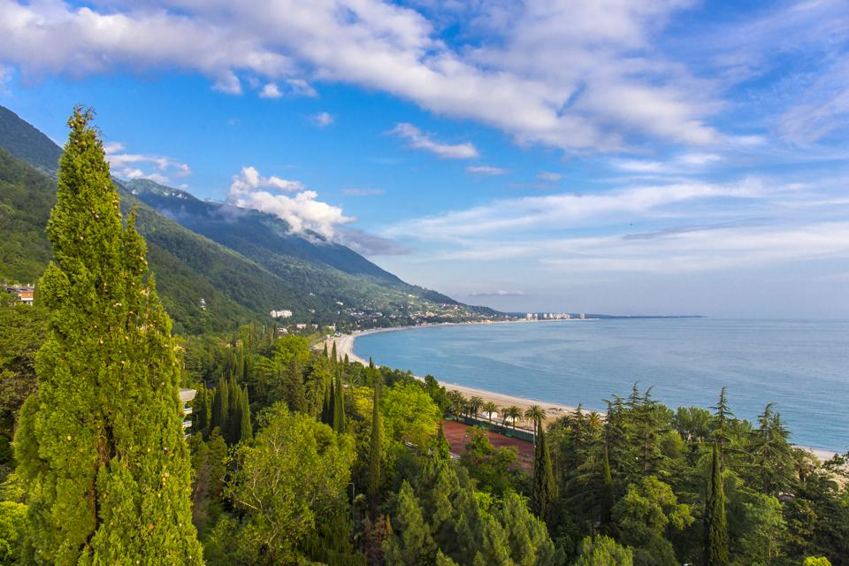 The Black Sea coastline of Abkhazia