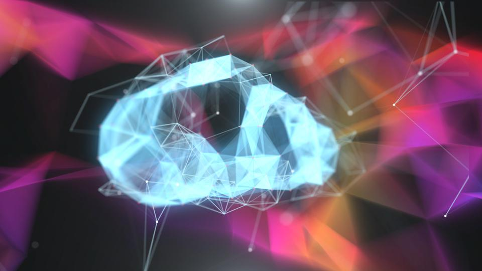 illustration of Clouds technology Futuristic design for digital technology background concept