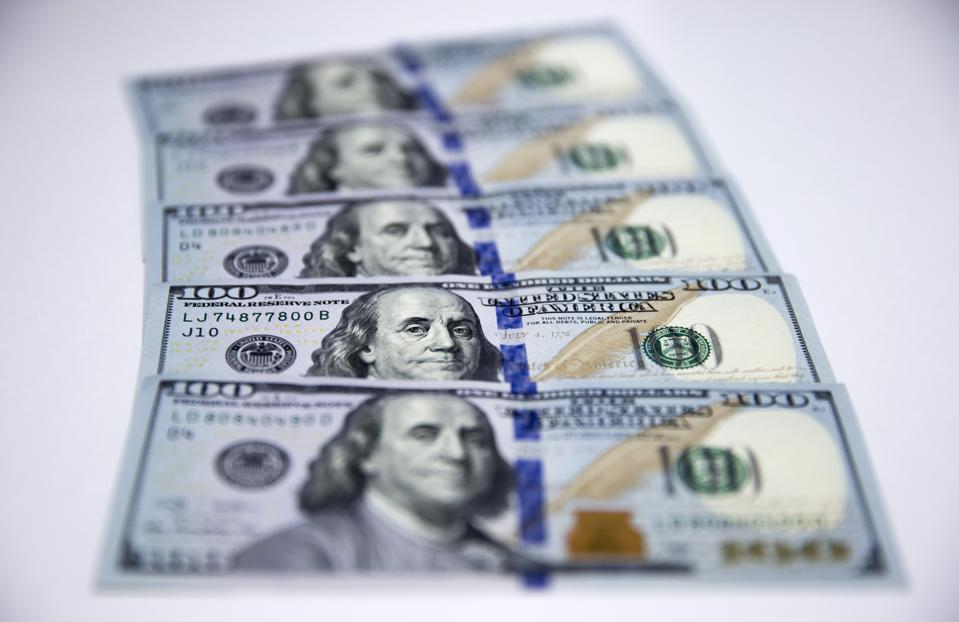 U.S. 100 dollar banknotes