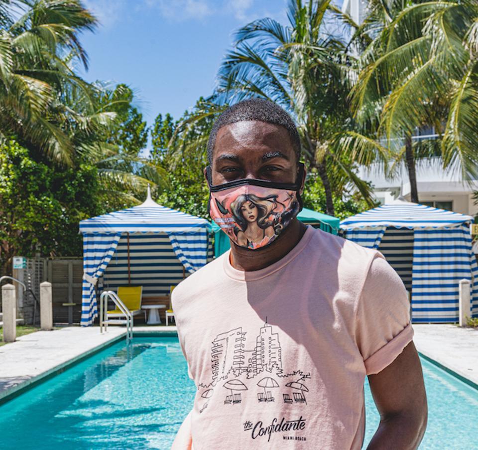 Custom-crafted face masks at The Confidante Miami Beach