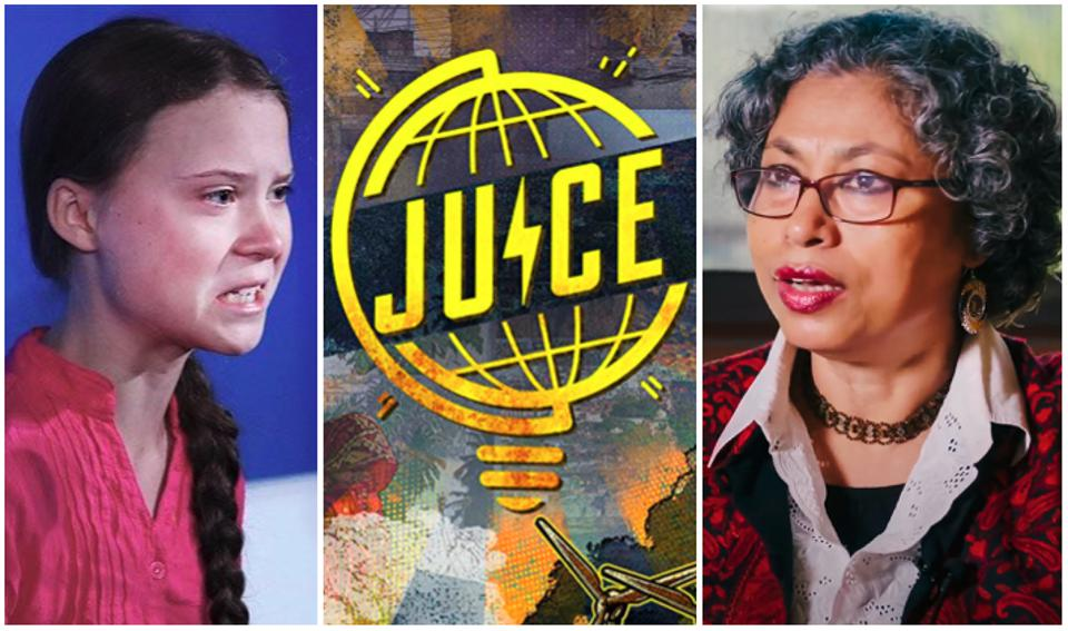Greta Thunberg and Joyashree Roy of ″Juice″