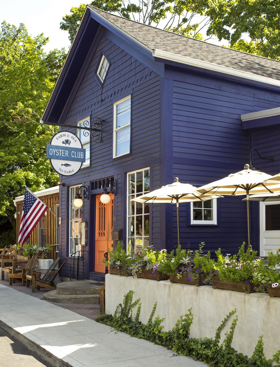 Oyster Club is set in a restored carriage house, and has been lauded to have some of the best oysters in America.