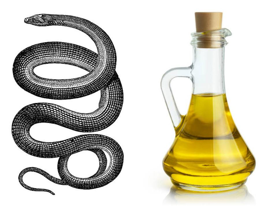snake oil combined images from Getty