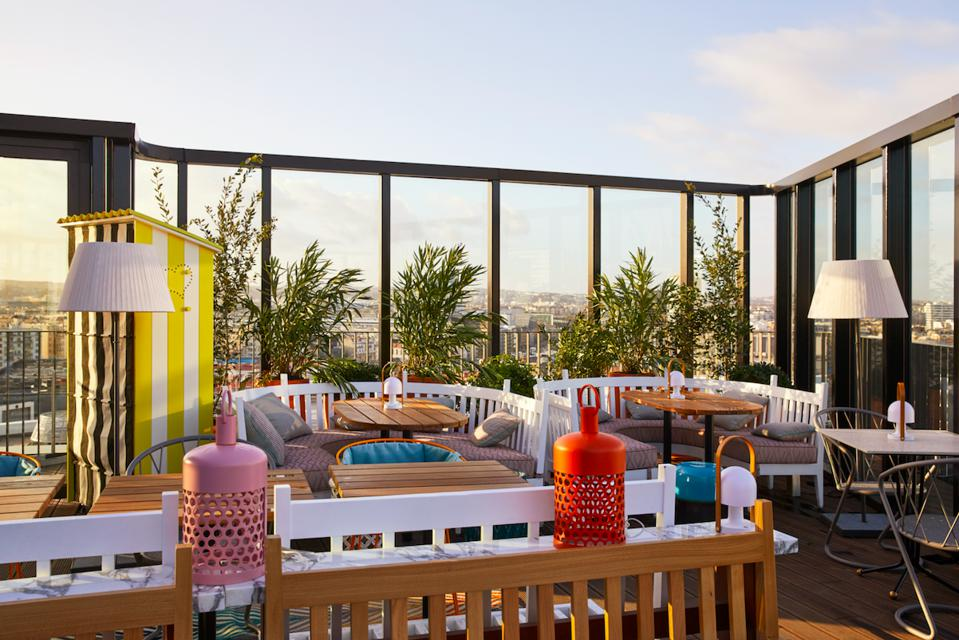 The rooftop at the newly opened Mama Shelter Paris West.