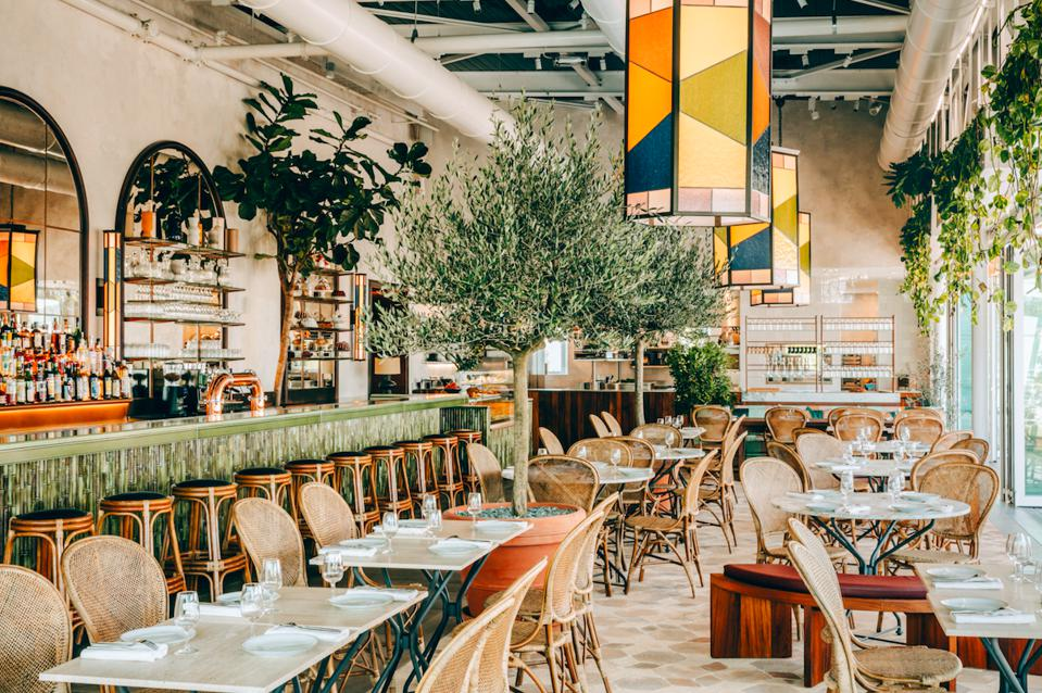 The new Perchoir restaurant in Paris, nestled in what will be Europe's biggest urban farm.