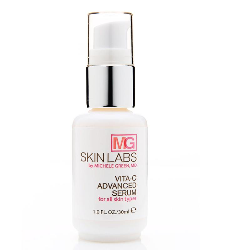 Vita-C-Serum: Evens out pigmentation for all skin types  The ultimate anti-aging solution for skin that's begins to exhibit changes in texture, color and tone, the exceptionally high concentration of Vitamin C in this serum helps promote skin cell renewal and support collagen synthesis. Ideal for patients with brown or red spots, and the onset of fine lines, this fast-absorbing serum revitalizes and moisturizes skin while improving texture and radiance. A potent antioxidant, vitamin C also helps neutralize the harmful effects of free radicals.  DIRECTIONS: Shake before each use. After cleansing and drying skin thoroughly, apply to face and neck morning and night.