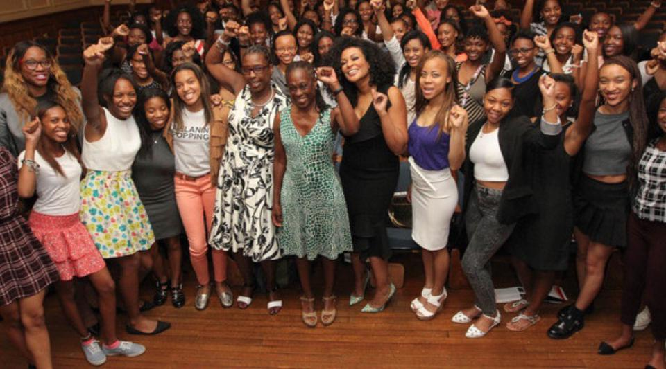 Beverly Bond with the Black Girls Lead 2019 class in New York.