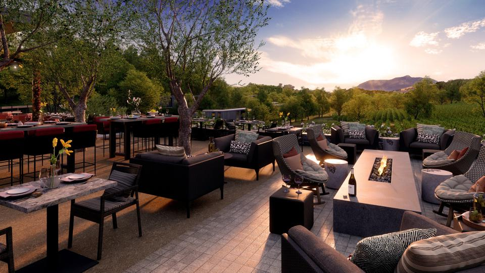 Montage Healdsburg will offer a signature restaurant, a lobby lounge, poolside bar and grill, as well as a treehouse-inspired private dining room.