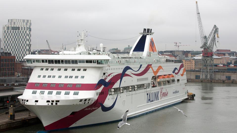 Tallink Baltic Queen vessel in harbor.