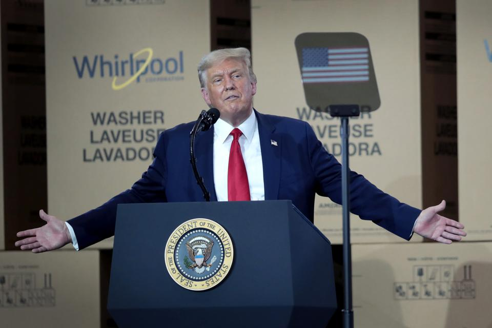President Trump Speaks At Whirpool Factory In Ohio