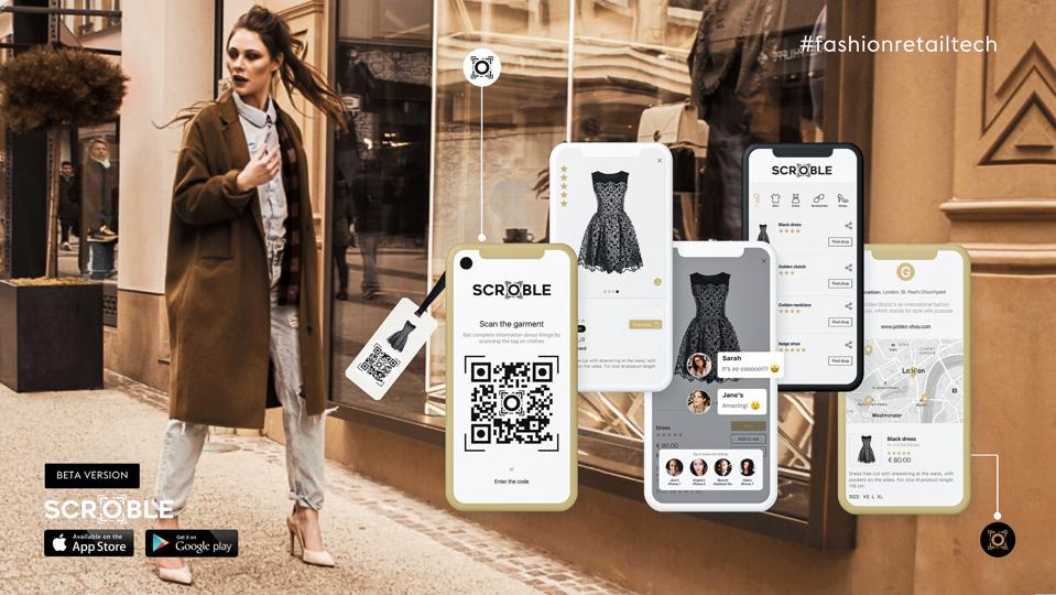 The new app Scroble that helps you have a digital version of your clothes while shopping