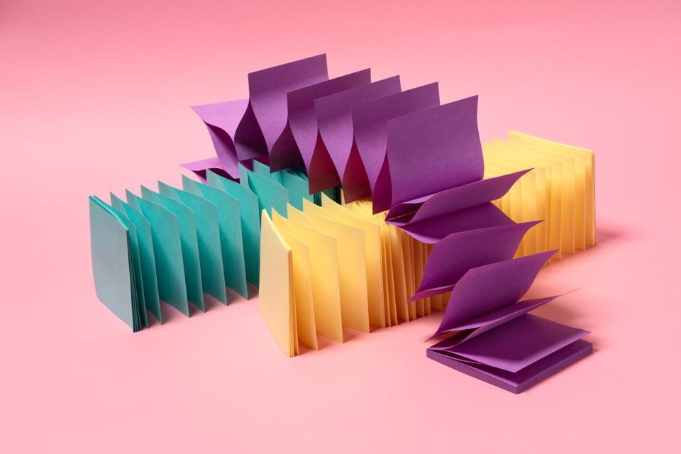 Multi Colored Zigzag Paper Stretching