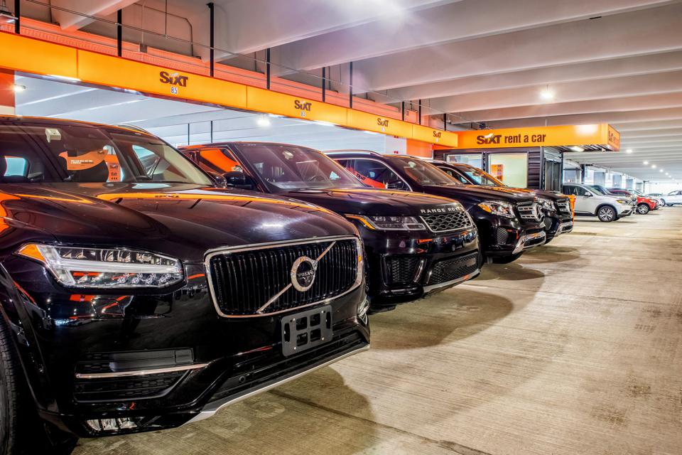 SIXT Rental Garage with cars.