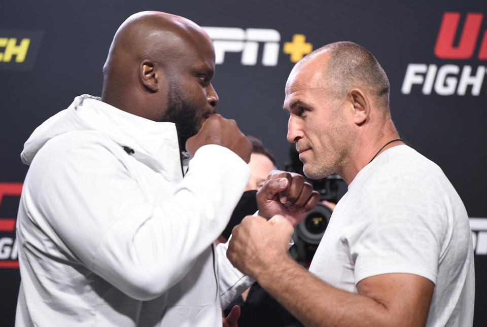Derrick Lewis and Aleksei Oleinik meet tonight in the main event of UFC on ESPN+ 32