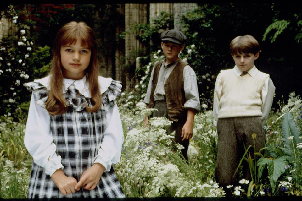 On the set of The Secret Garden
