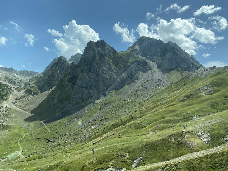 Mountain road in the Pyrenees