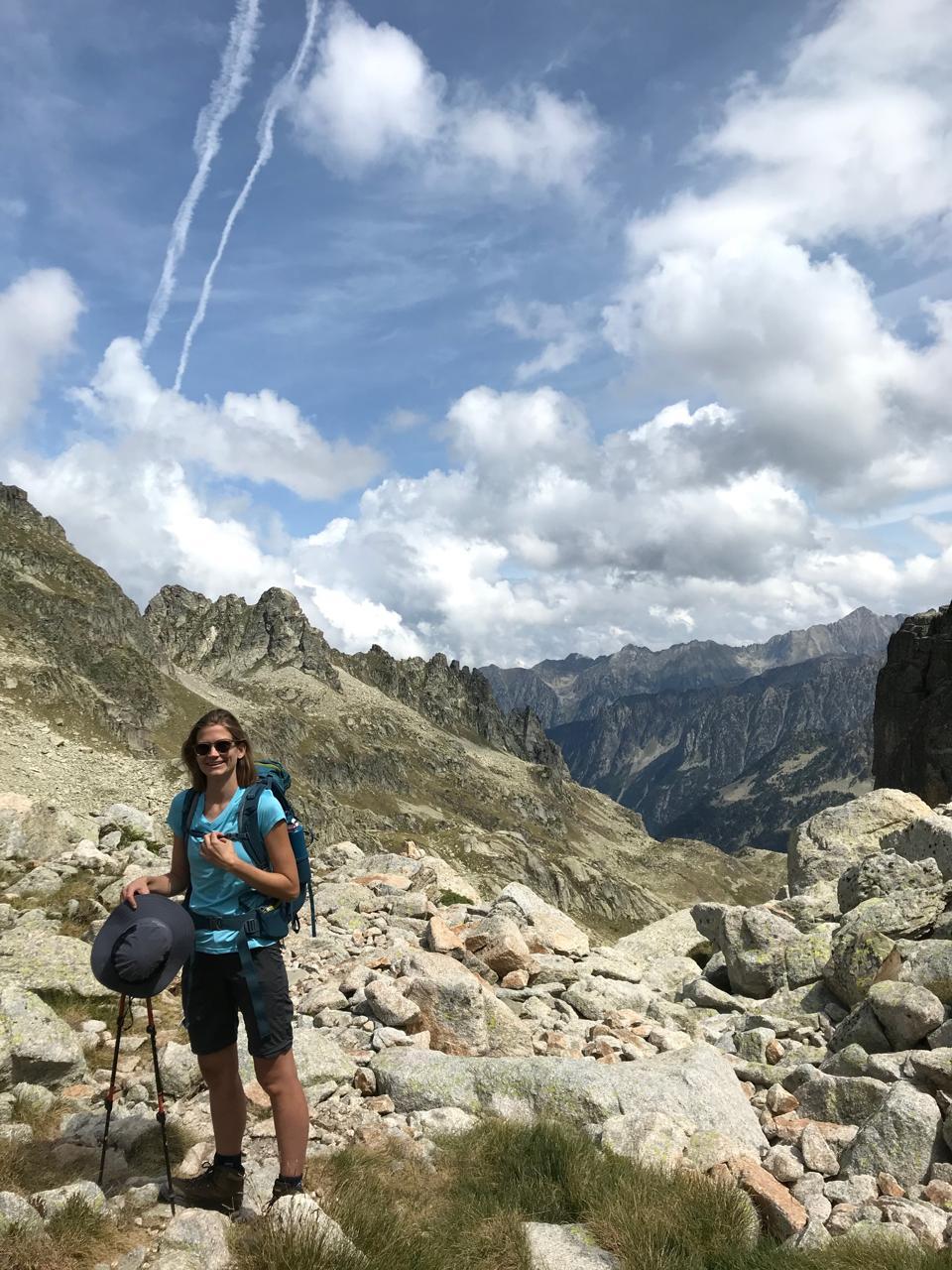 Faith Bosworth in the Pyrenees