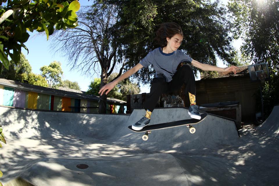 Olympic Hopeful Skateboarder Minna Stess Trains During Coronavirus Pandemic