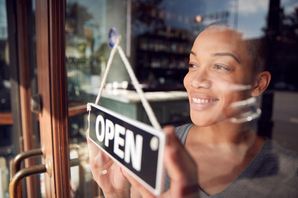 Black woman entrepreneur, coffee shop, restaurant