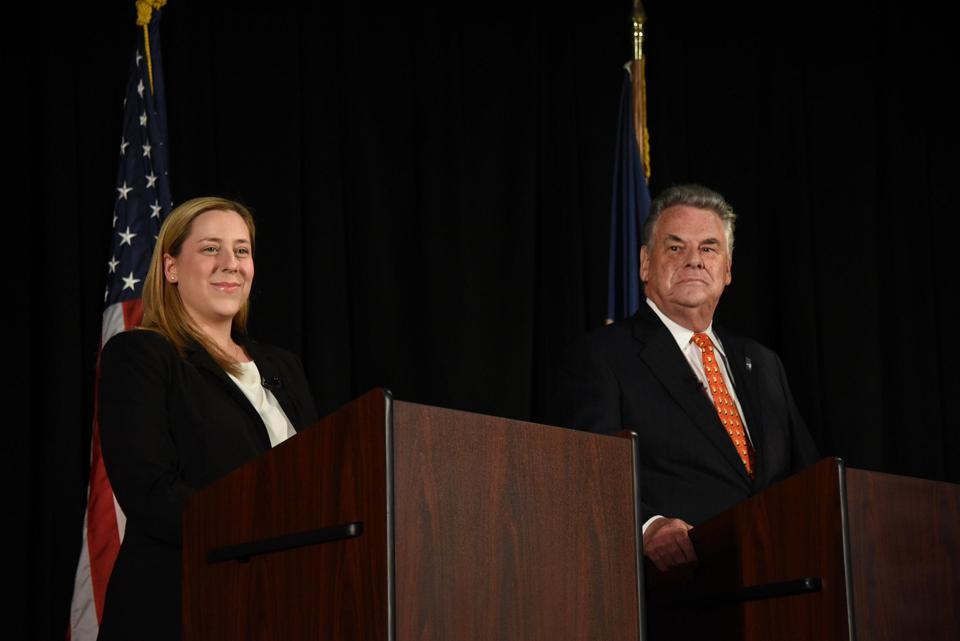 Liuba Grechen Shirley, founder of the Vote Mama Foundation, challenging N.Y.: Republican incumbent Peter King in 2018. (Photo by Danielle Silverman/Newsday RM via Getty Images)