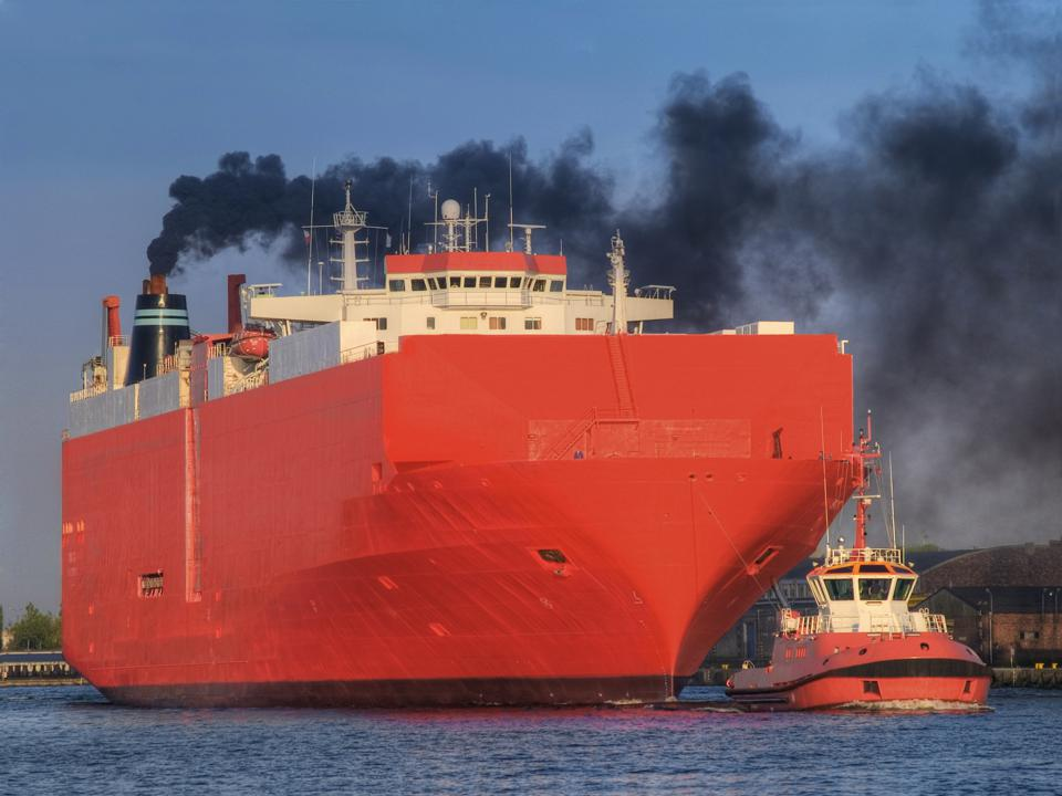 Ships often burn the most harmful fuels when away from shore