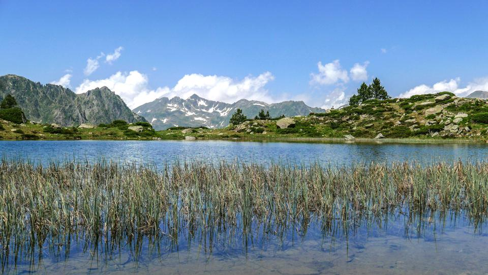 Landscape in the Pyrenees.