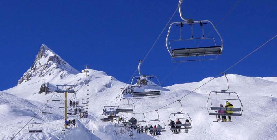Ski slopes in Pyrennees, France