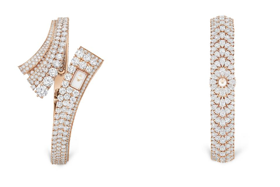 Two new high-jewelry watches from Jaeger-LeCoultre, Bangle and Snowdrop, feature the tiny Calibre 101