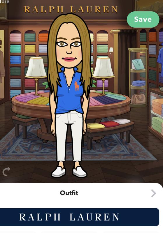 avatar of woman trying on clothes on snapchat