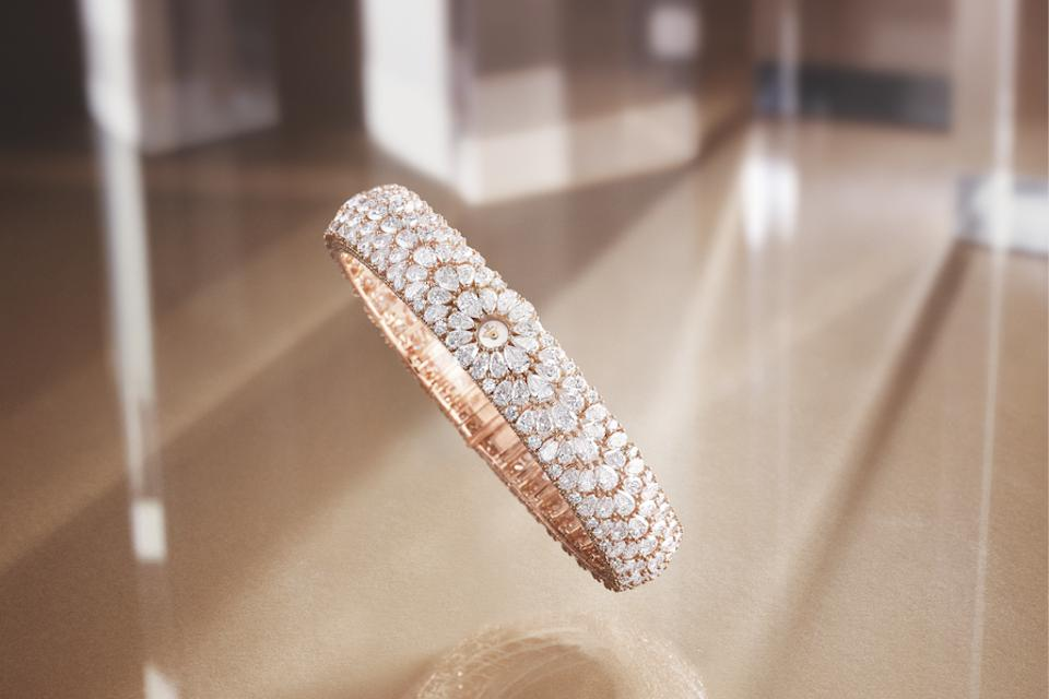 The new Snowdrop watch is set with 904 diamonds