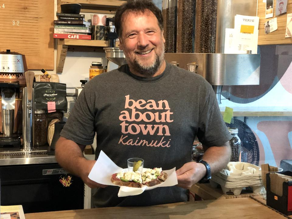 Owner Olivier Vetter at Bean About Town