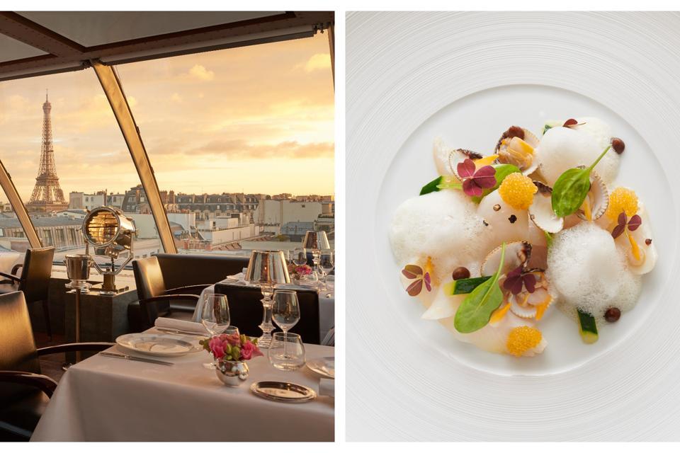 L'Oiseau Blanc Michelin star restaurant at the Peninsula Hotel in Paris.
