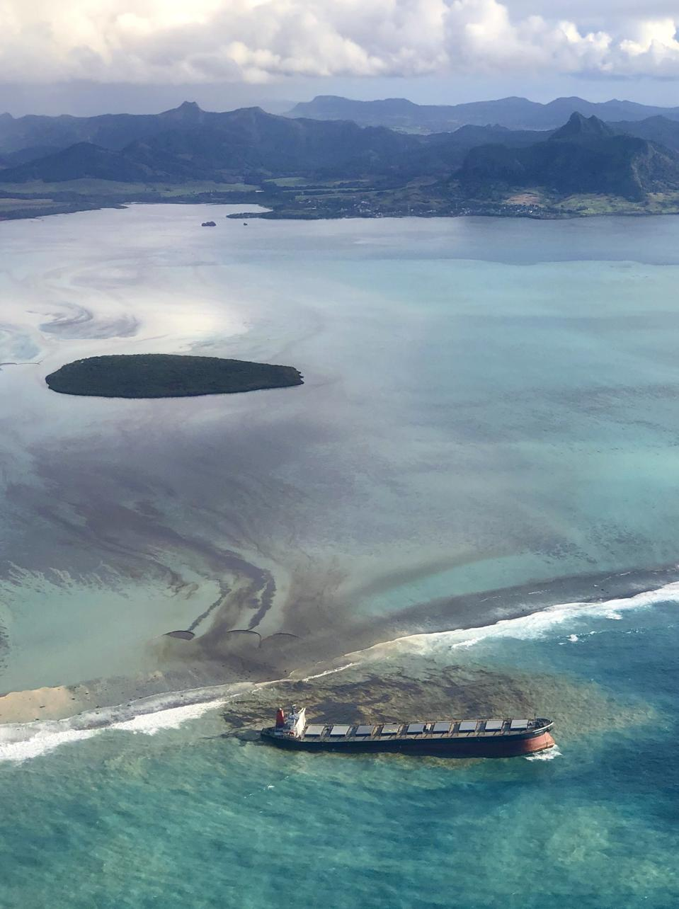 The giant Japanese bulk carrier, the Wakashio, spilled an undisclosed amount of oil along the coast of Mauritius in August, having run aground in July in as yet unexplained circumstances.