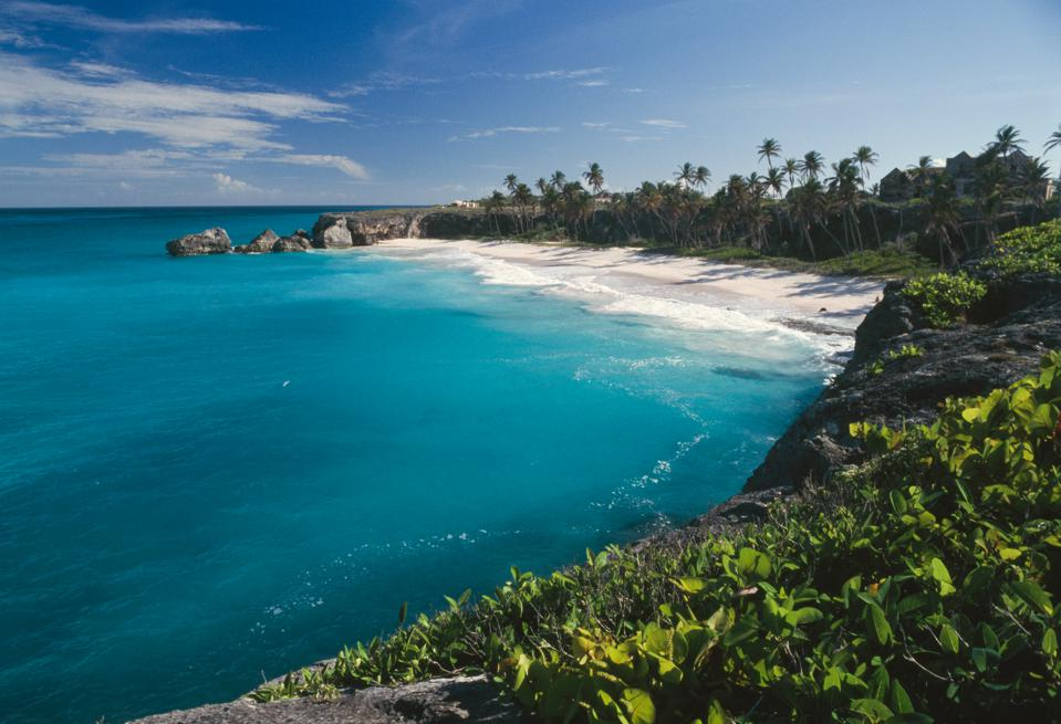Harry Smith Beach, Bottom Bay, Barbados in the Caribbean reopen to American tourists