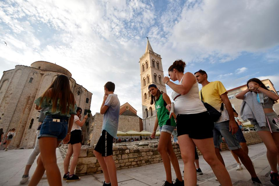 Tourists in Croatia mid Covid crisis as it opens  borders to tourists including Americans