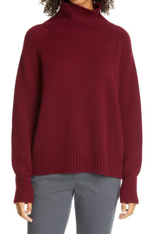 Nili Lotan Mariah Funnel Neck Cashmere Sweater