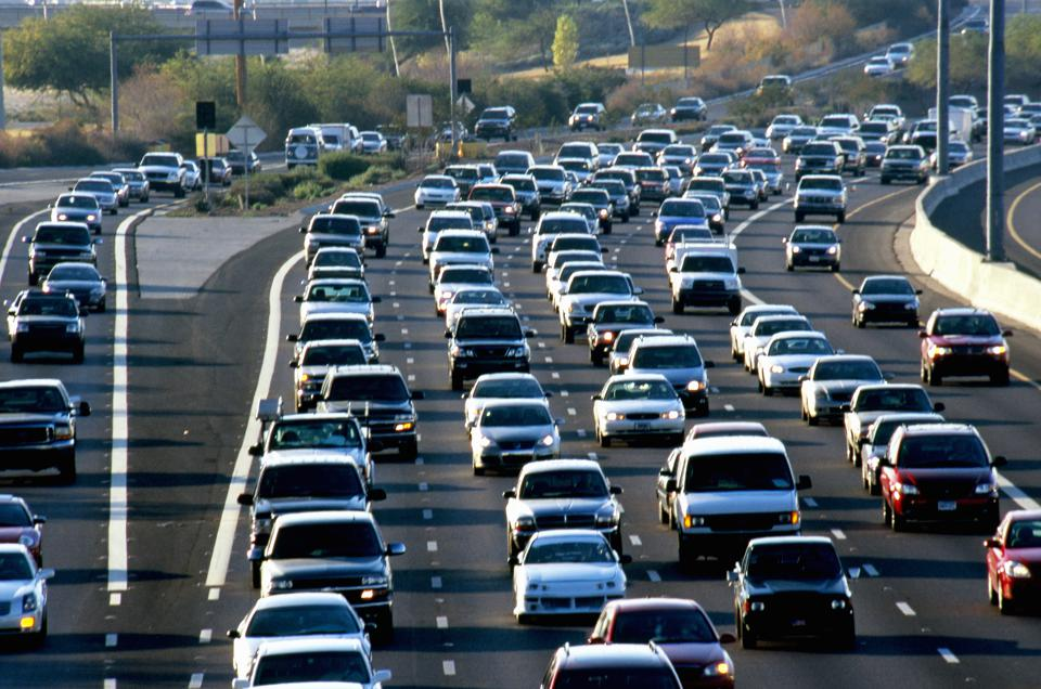 Traffic on congested freeway