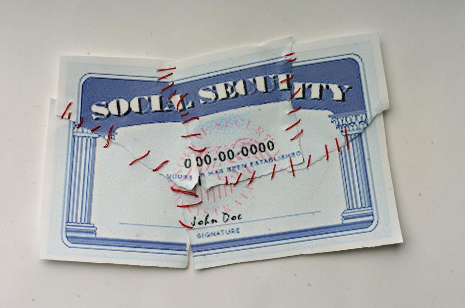 Shredded Social Security Card