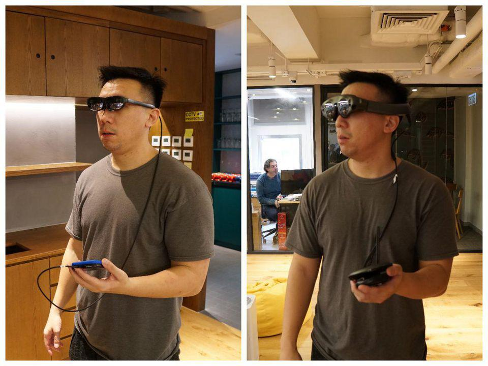 The nReal Light (left) and Magic Leap (right).